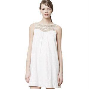 [Anthropologie] Graced Metallic Beaded Swing Dress